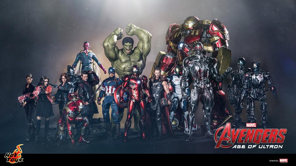 Avengers Unite! Amazing Photo of All The Hot Toys Avengers Age of Ultron Figures.
