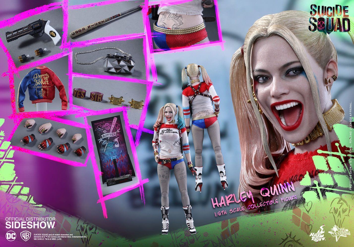 Hot Toys One Sixth Scale Suicide Squad Harley Quinn Figure