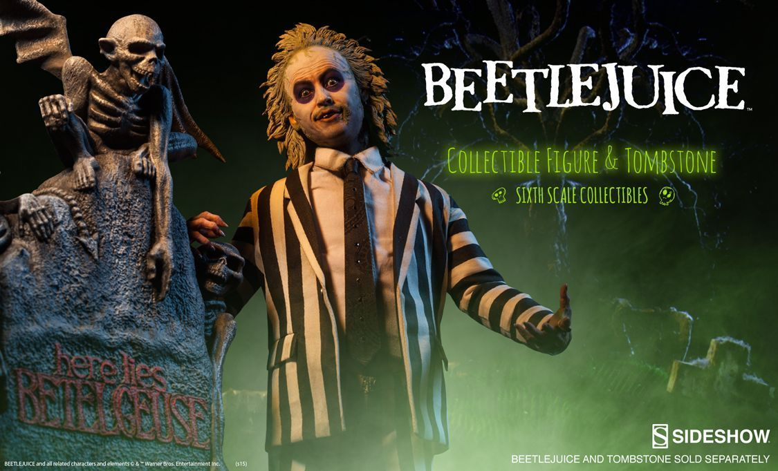 Sideshow Collectibles Beetlejuice Figure and Tombstone