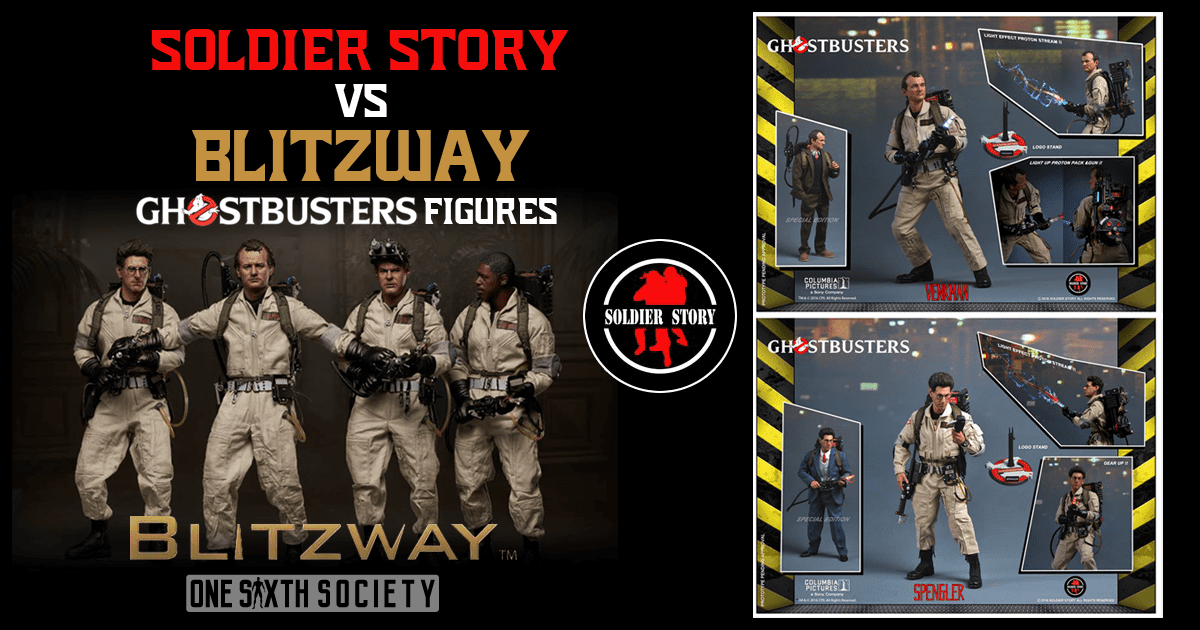 Blitzway vs Soldier Story Toys Ghostbusters