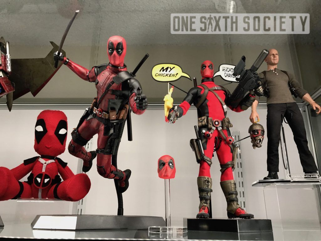 Comparison between Hot Toys DeadPool and Tony Mei's Custom DeadPool