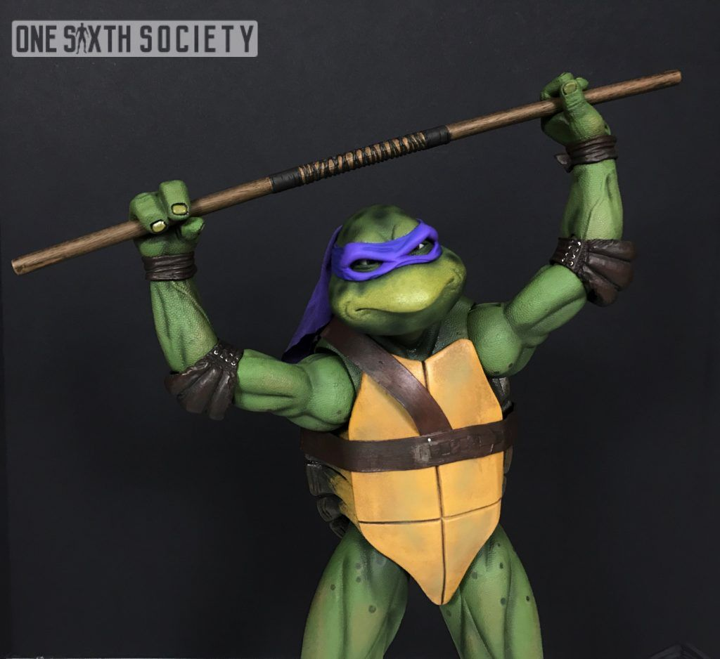 Check out our NECA 1/4 Scale 1990 TMNT Donatello Figure Review!