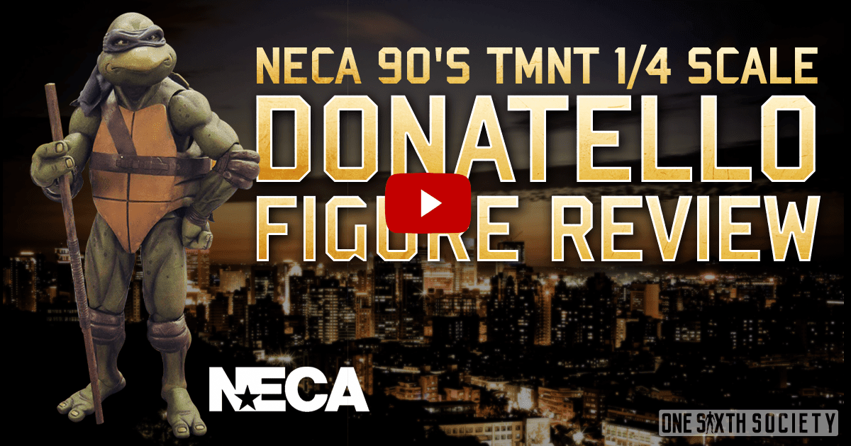 NECA 1/4 Scale 1990 TMNT Donatello Figure Review