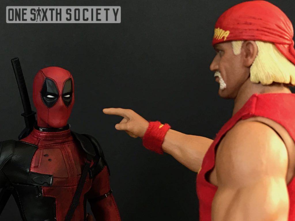 Storm Collectables Hulk Hogan and Hot Toys Deadpool hanging out!