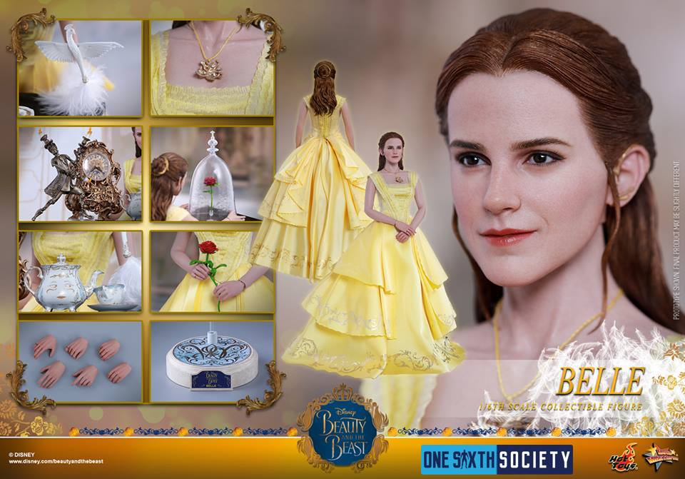 The Hot Toys Beauty and The Beast Belle Figure has Tons of Accessories!