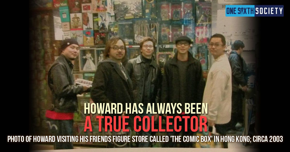 Hot Toys Founder Howard Chan At his friends Figures Shop Called Comic Box in Hong Kong