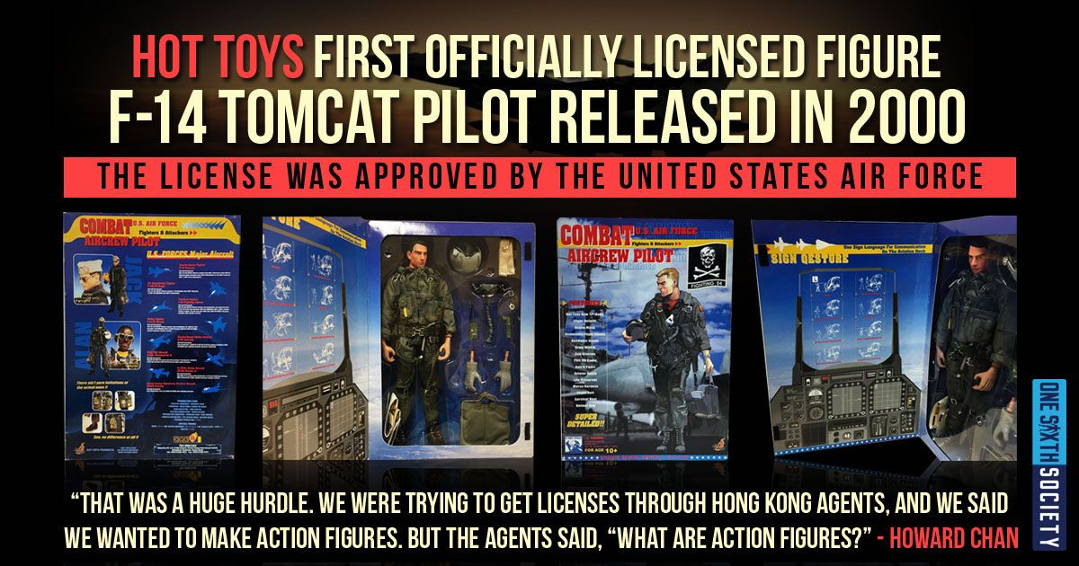 Hot Toys Founder Howard Chan First Ever Licensed Sixth Scale Figure - F-14 Tomcat Pilot