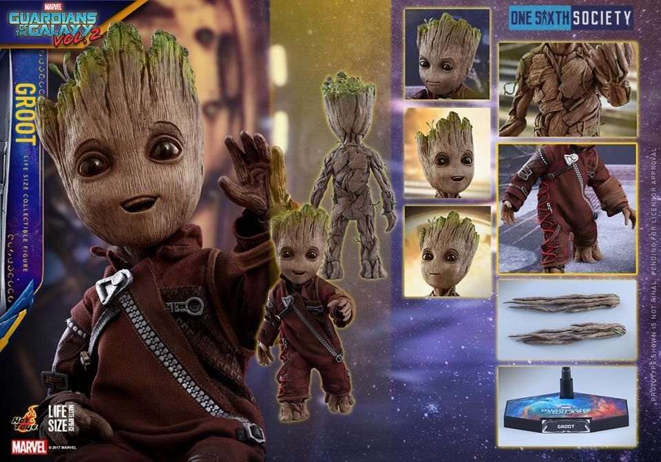 Check Out All the Awesome Hot Toys Guardians of the Galaxy Vol. 2 Baby Groot Accessories here!
