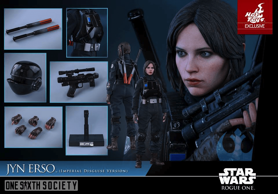 Check out all the cool accessories that comes with the new Hot Toys Jyn Erso Figure!