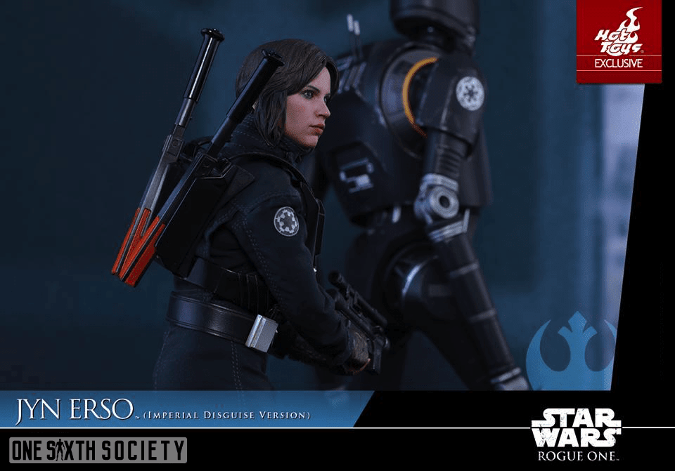 Here you can get a good looks at The Hot Toys Jyn Erso Figures Side Profile of the Head Sculpt.
