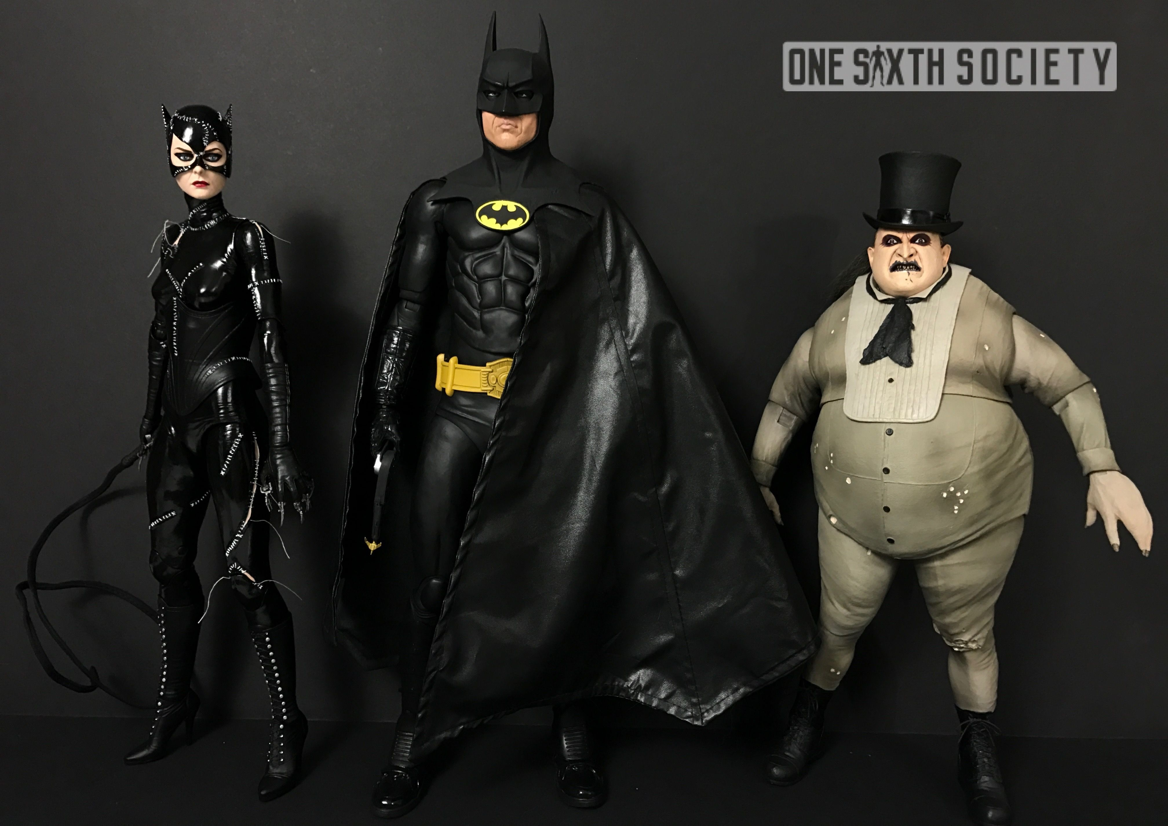 All Three NECA 1/4 Scale Batman Returns Figures! Including Catwoman and Penguin!