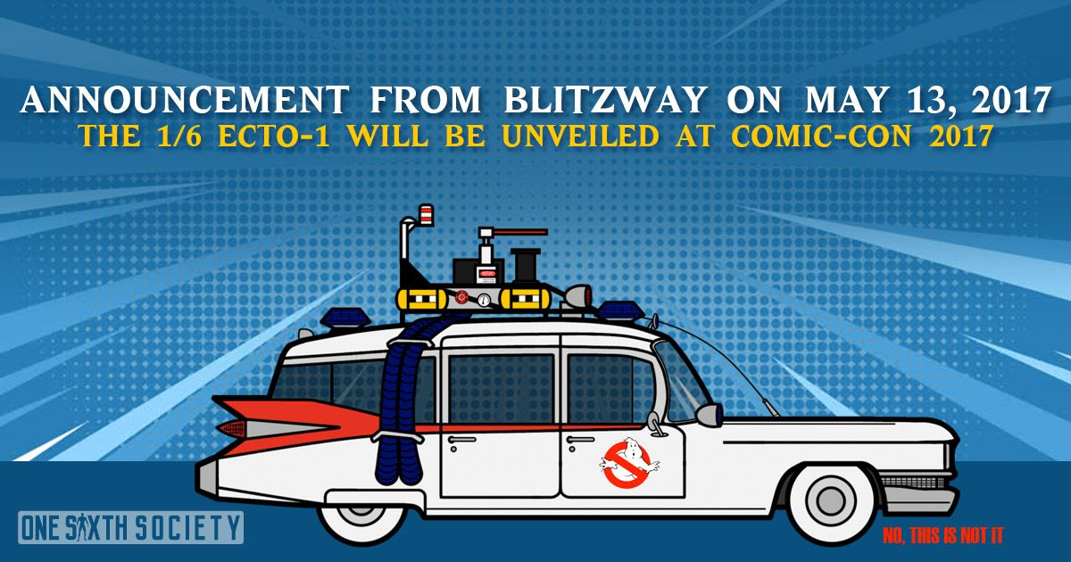 Its official, Blitzway will announce the Ghostbusters Ecto-1 at Comic Con 2017