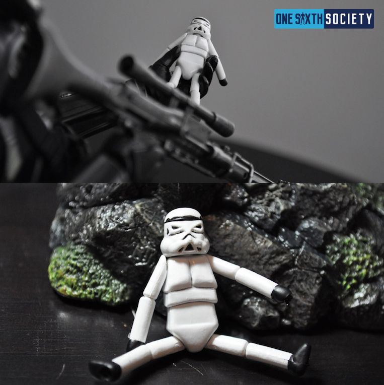 The Mini Storm Trooper Accessory Comes with the Hot Toys Death Trooper Deluxe Figure