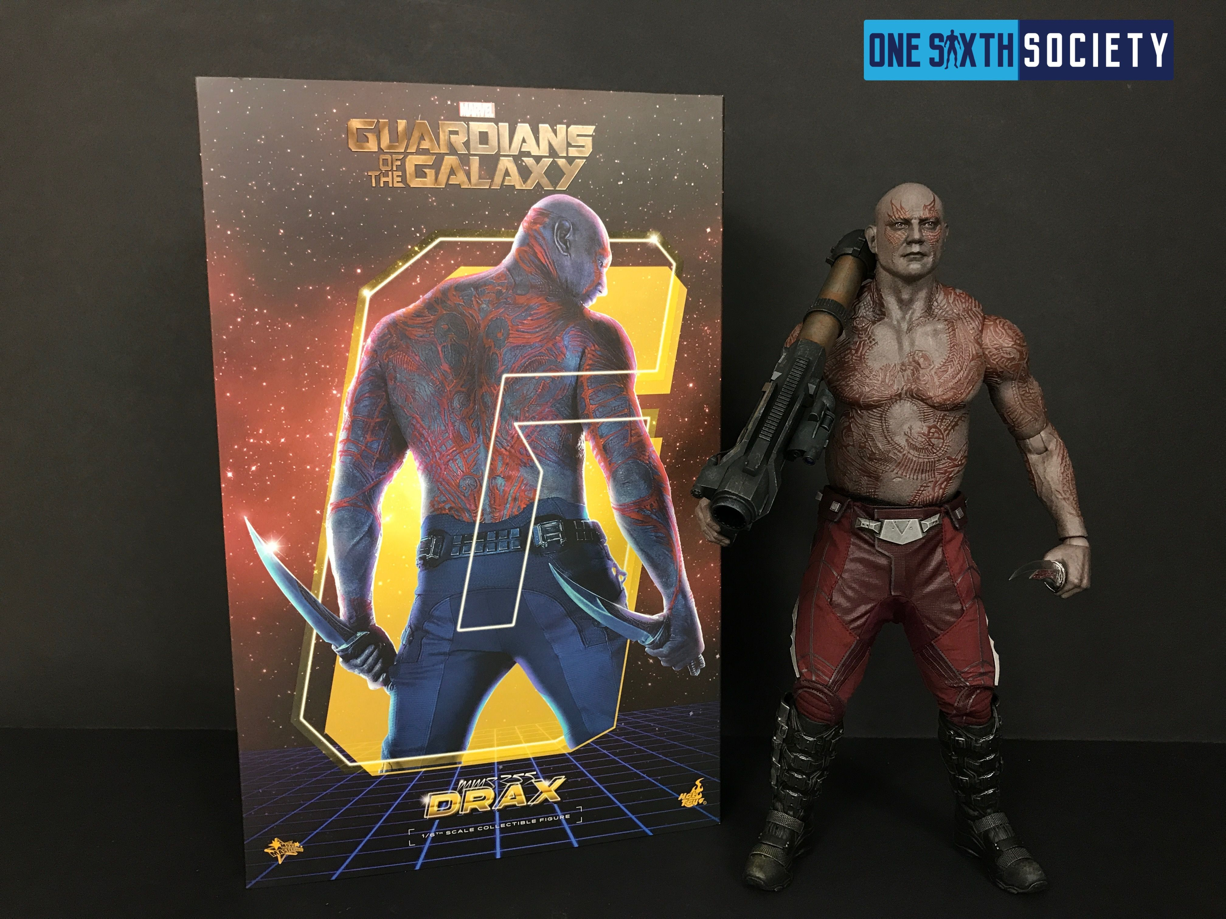 Beautiful Hot Toys Drax Box Art!