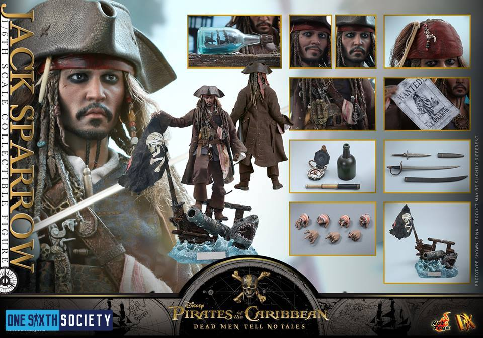 The Hot Toys DX15 Captain Jack Sparrow Figure is Loaded with Accessories!