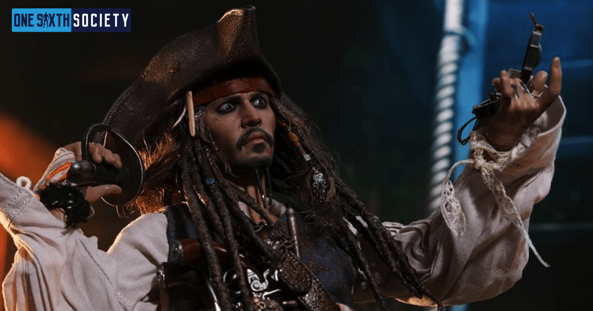 The Hot Toys DX15 Captain Jack Sparrow Figure Head Sculpt is Spot On!