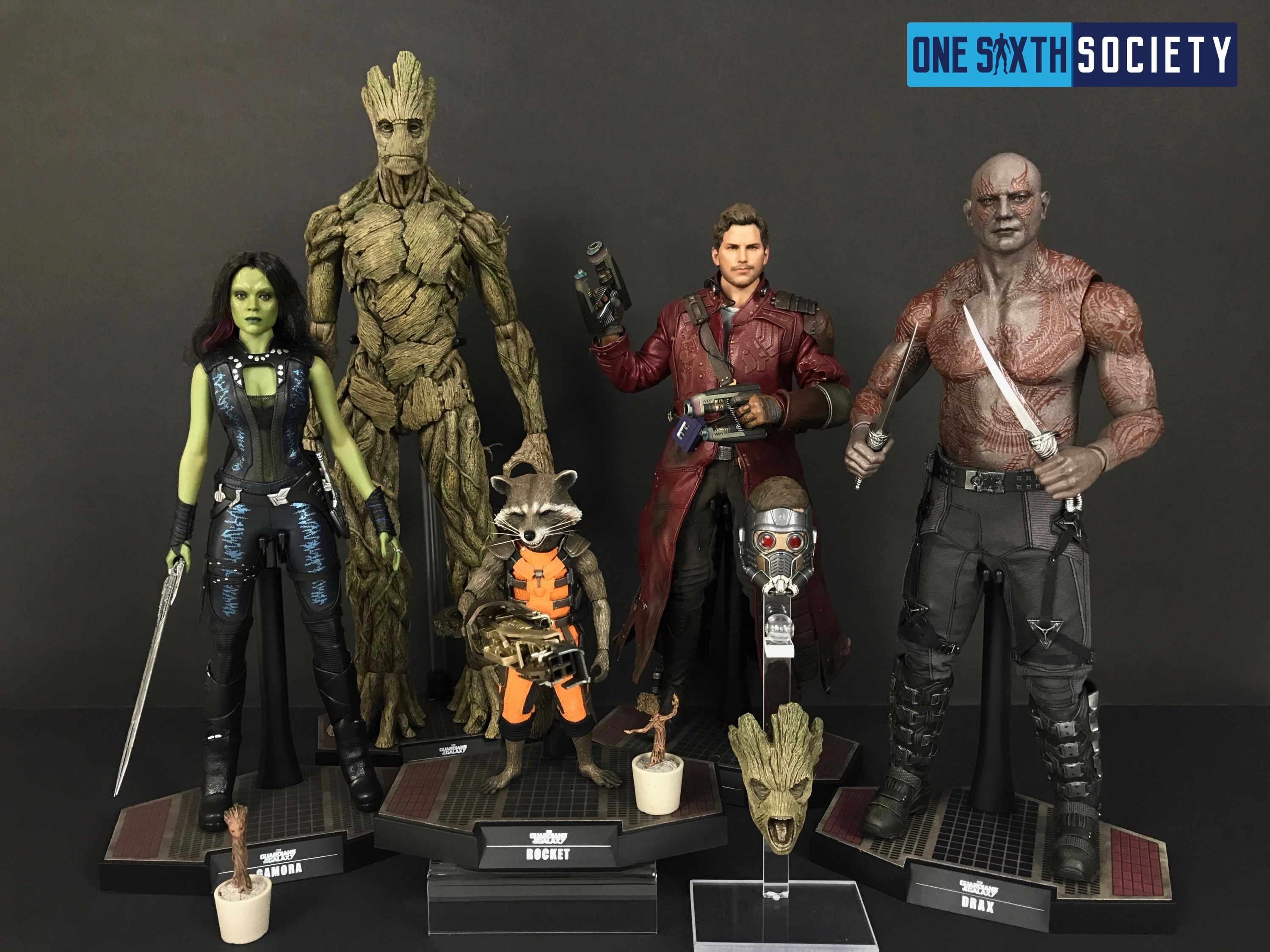 The Entire Hot Toys Guardians of The Galaxy Complete Set Completed!