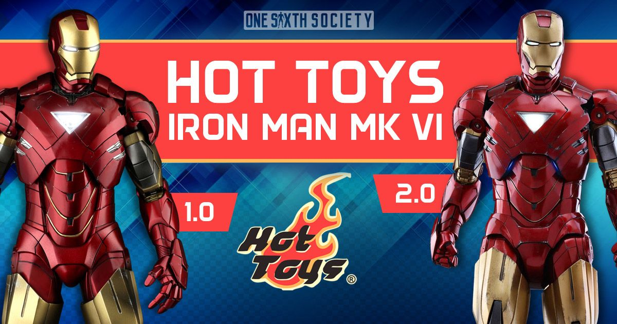 Check Out the Difference Between The Hot Toys Ironman Mark VI 1.0 and 2.0