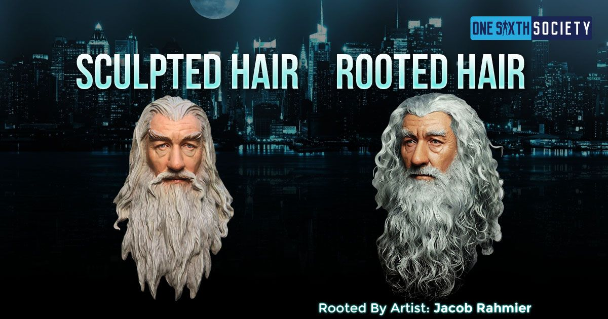 Amazing Sixth Scale Gandalf With Rooted Hair done by Jacob Rahmier