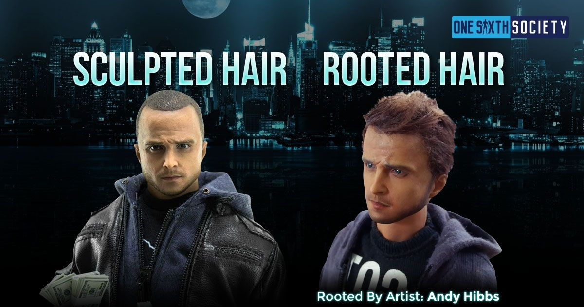 Awesome Sixth Scale Jesse Pinkman With Rooted Hair done by Artist Andy Hibbs