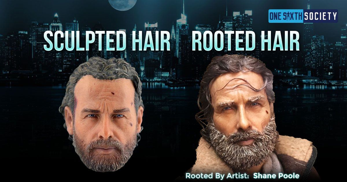 Stunning Sixth Scale Rick Grimes With Rooted Hair by Artist Shane Poole