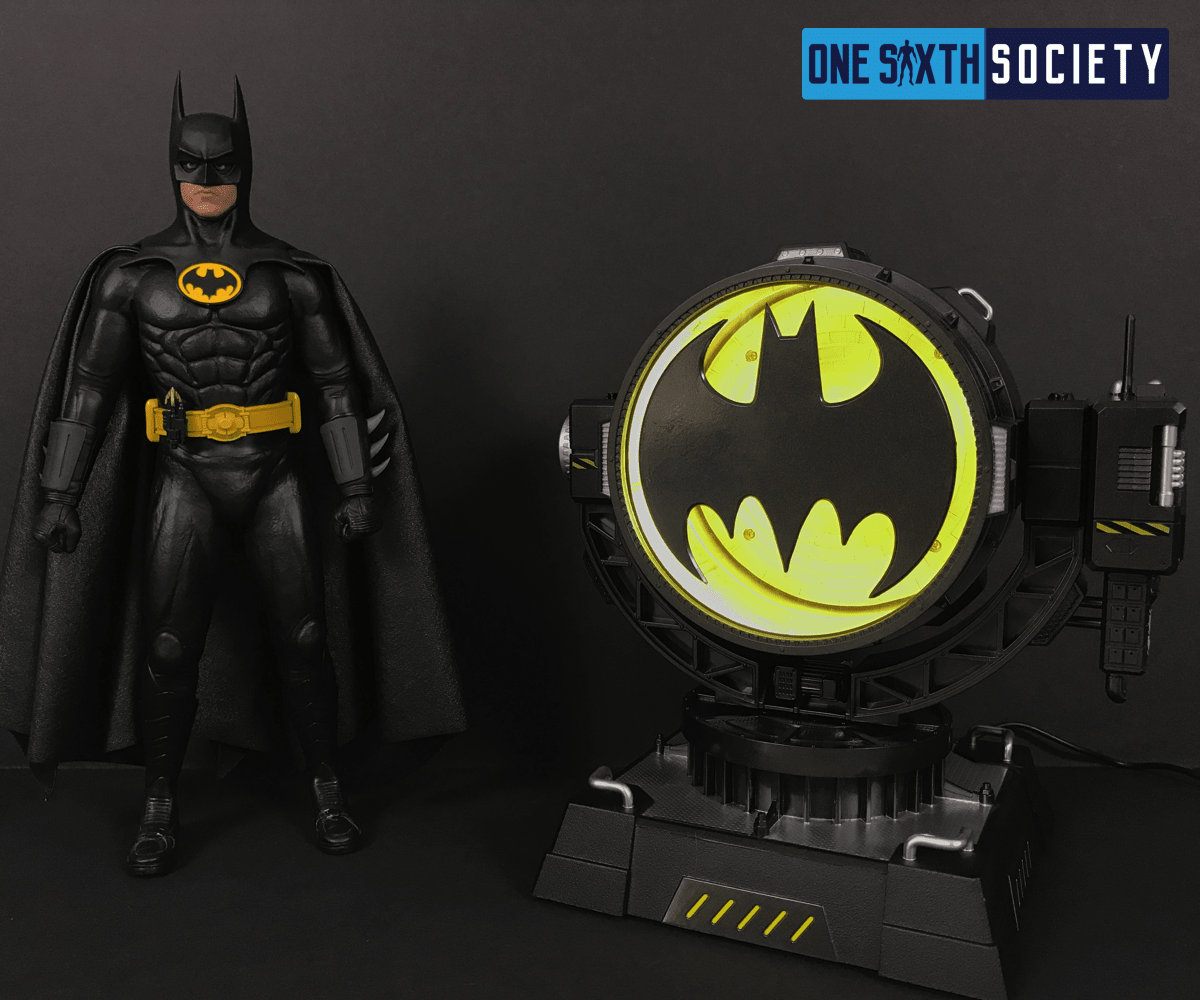 The Batman Returns Logo on the Hero Club Bat Spotlight Lights Up
