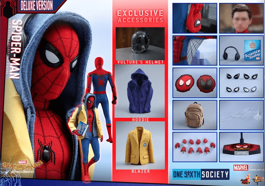 Check Out All The Accessories That Come With The Hot Toys Homecoming Spider Man Figure