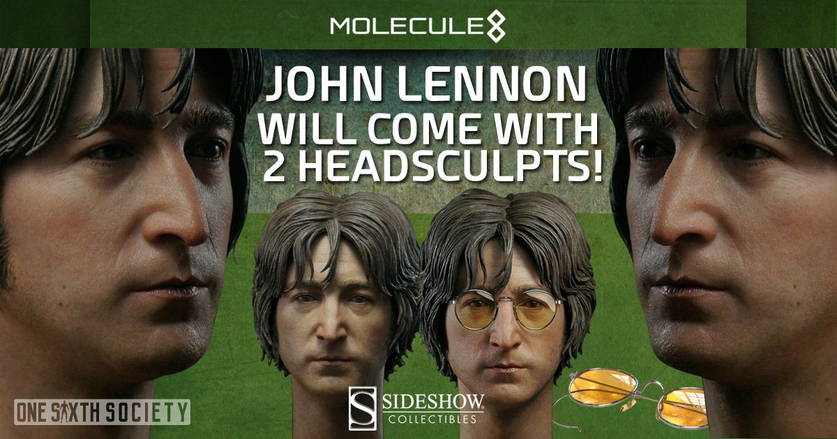 The Molecule8 John Lennon Figure Comes With Two HeadSculpts!