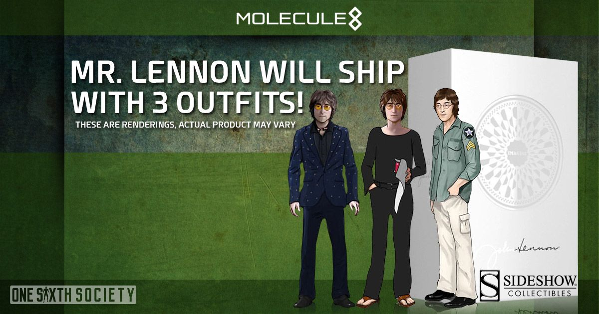 You Will Receive 3 Outfits With the Molecule8 John Lennon Figure!