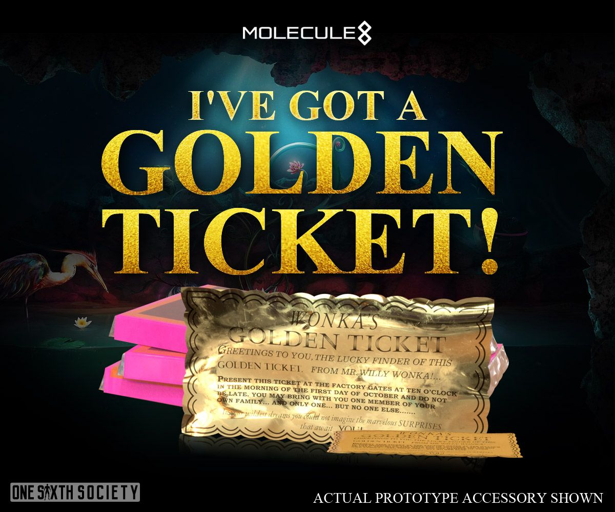 The Molecule8 Willy Wonka Figure has the First Ever One Sixth Scale Golden Ticket