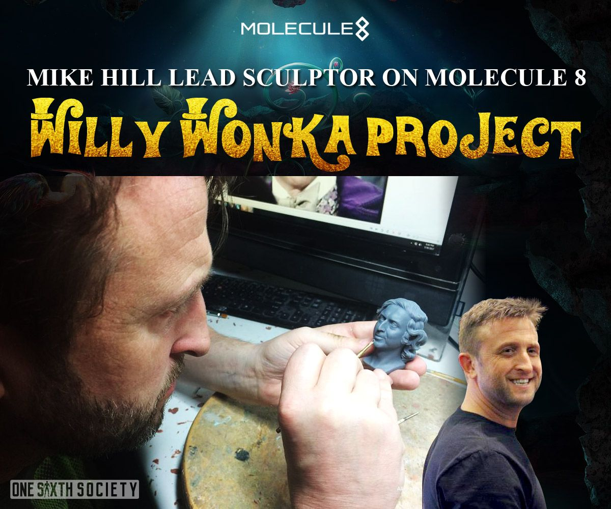 Mike Hill is Leading the Charge for The Molecule8 Willy Wonka Head Sculp