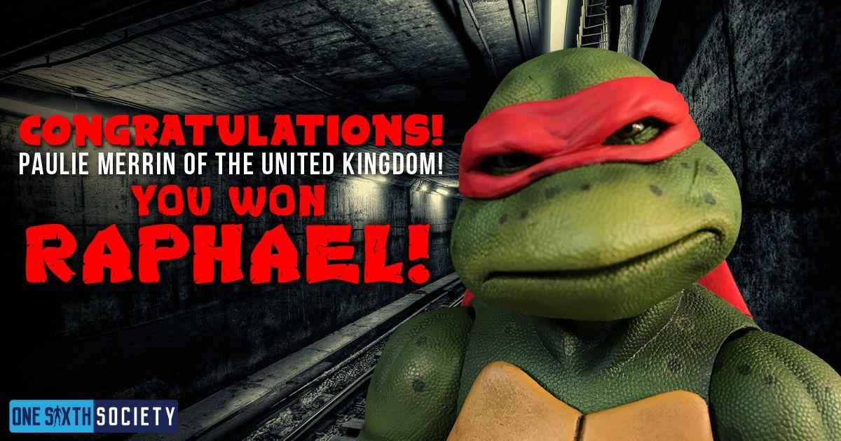 Neca 1/4 Raphael Giveaway Winner Paulie