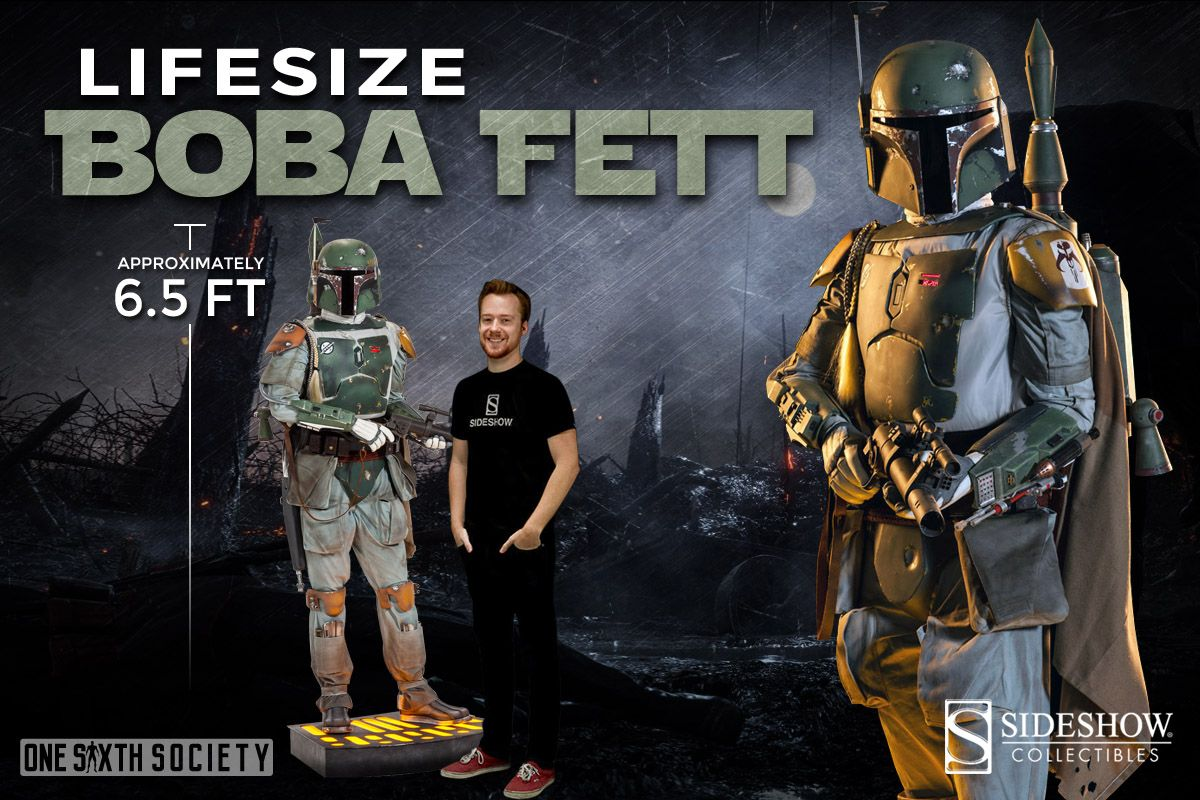 The Sideshow Collectibles Boba Fett Life Size Action Figure is the coolest thing I've ever seen