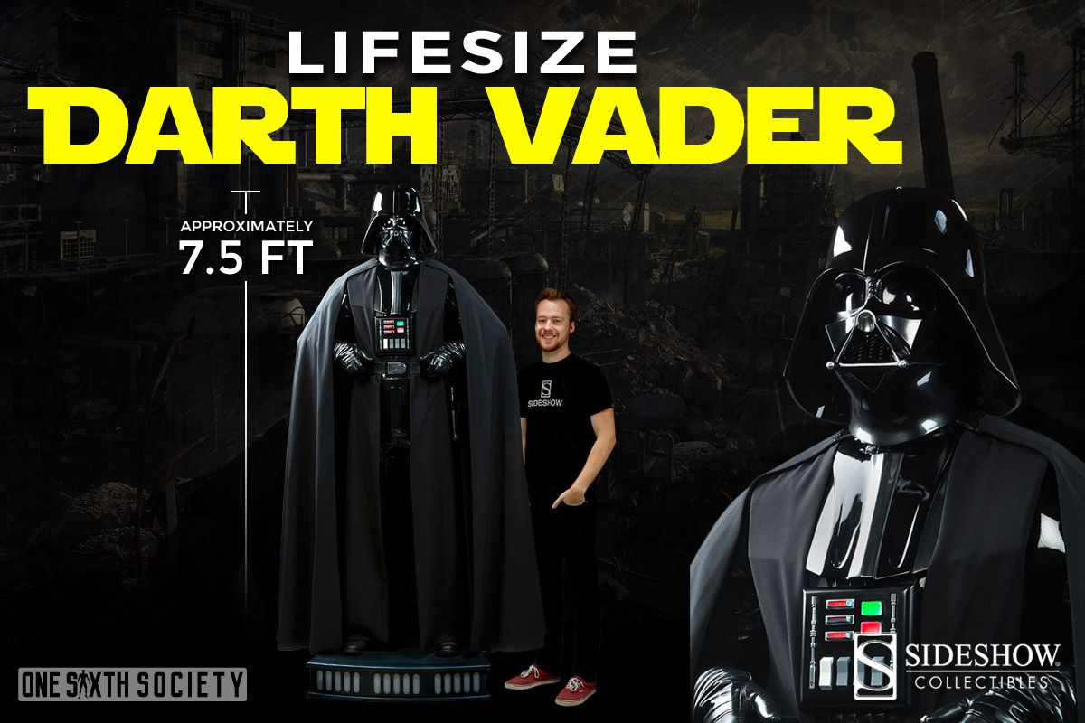 The Sideshow Collectibles Darth Vader Life Size Action Figure is Almost 8 Feet Tall
