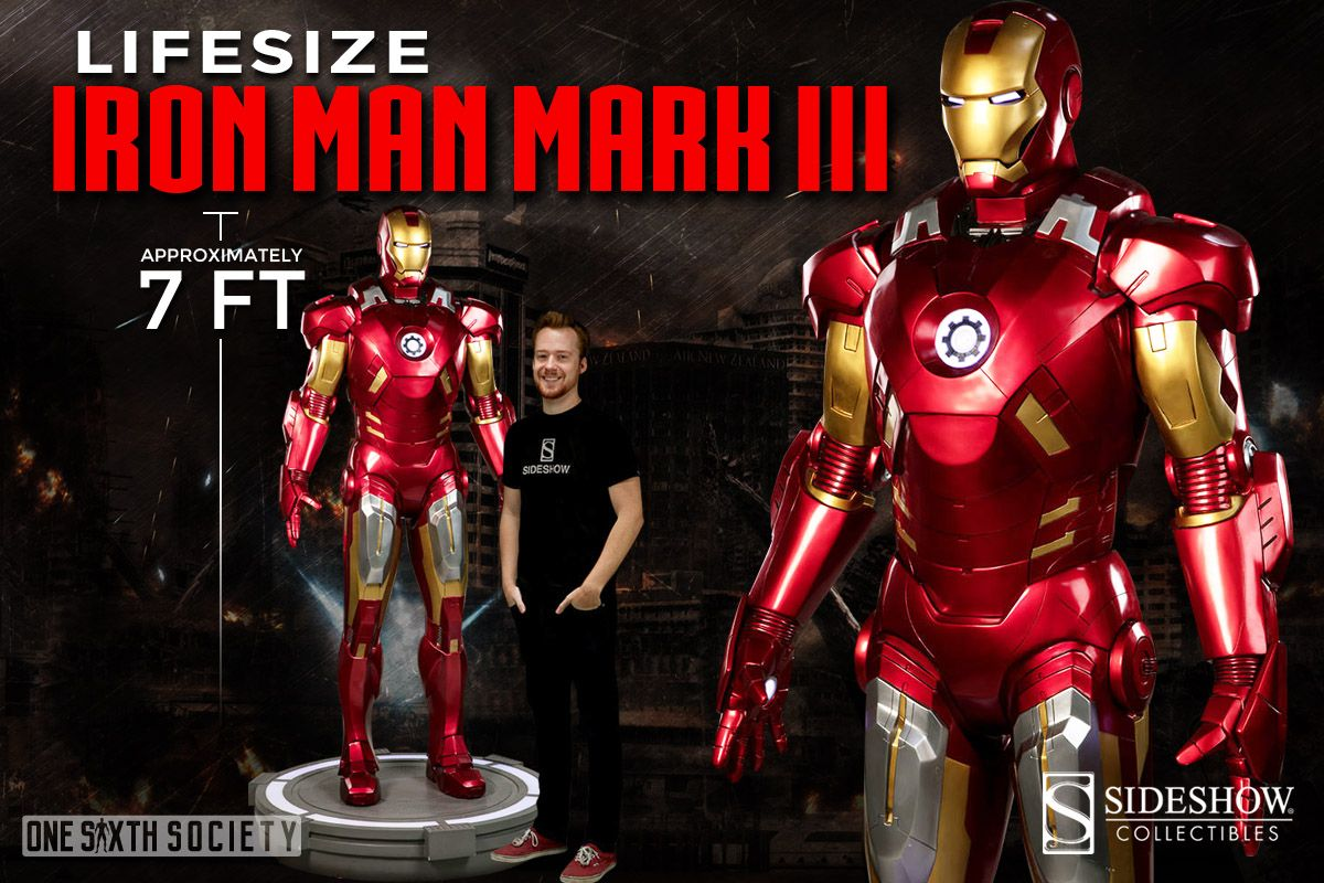 Bet You Didn't Know The Sideshow Collectibles Iron Man Mark III Life Size Action Figure Existed