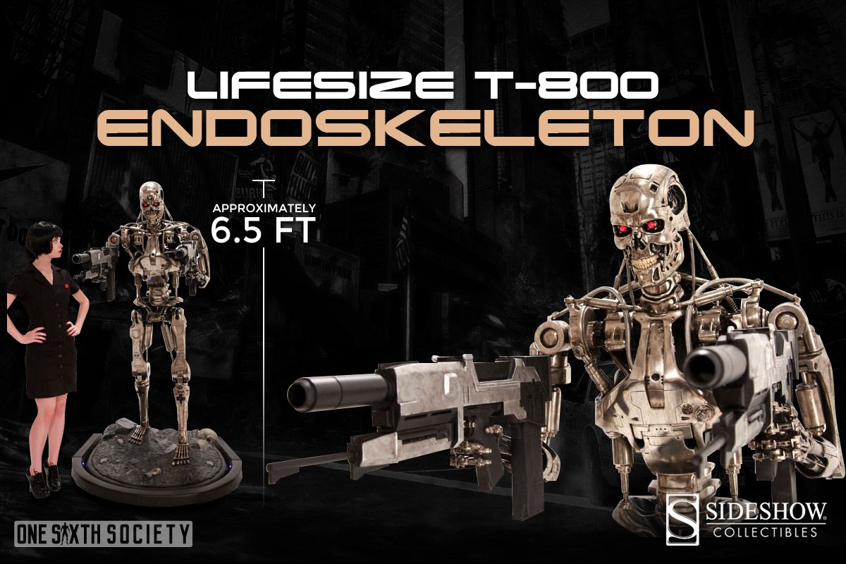 Awesome Sideshow Collectibles T-800 Ednoskeleton Life Size Action Figure