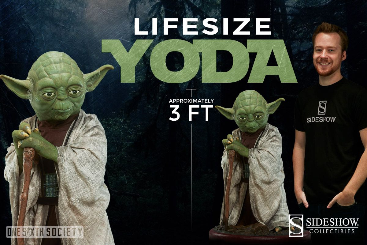 Without a doubt the Sideshow Collectibles Yoda Life Size Action Figure is a must have for any Star Wars Fan!