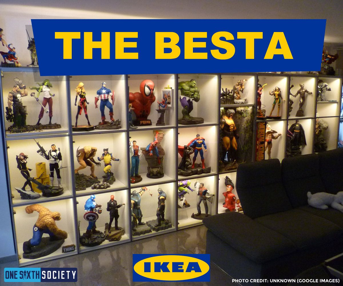 The IKEA Besta Display Case For good for Action Figures and Statues