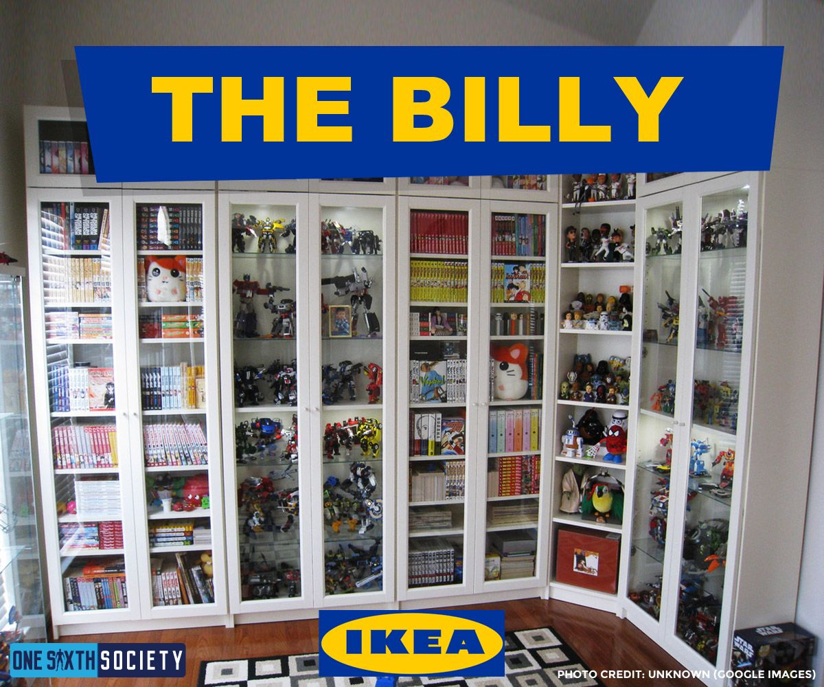 The IKEA Billy Display Case is Perfect For Action Figures