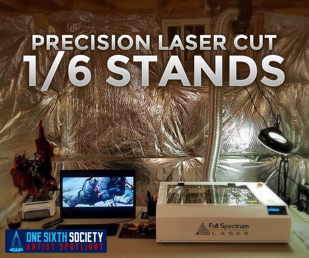 Stoney's Stands uses a laser cutter for all of their 1/6 scale figure stands
