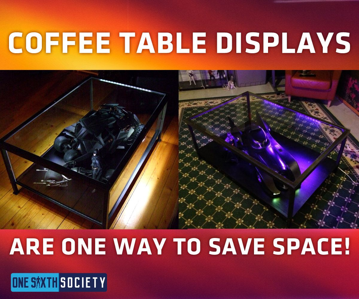 Hot Toys batmobiles can be put inside coffee tables to display