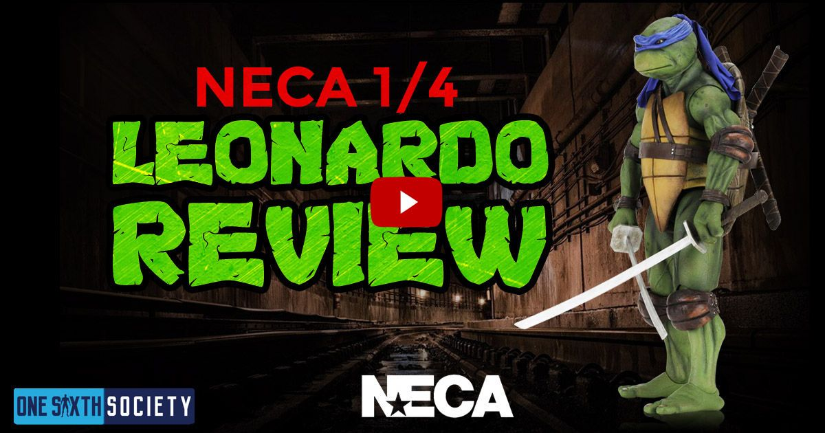 1/4 Scale 1990 TMNT NECA Leonardo Review