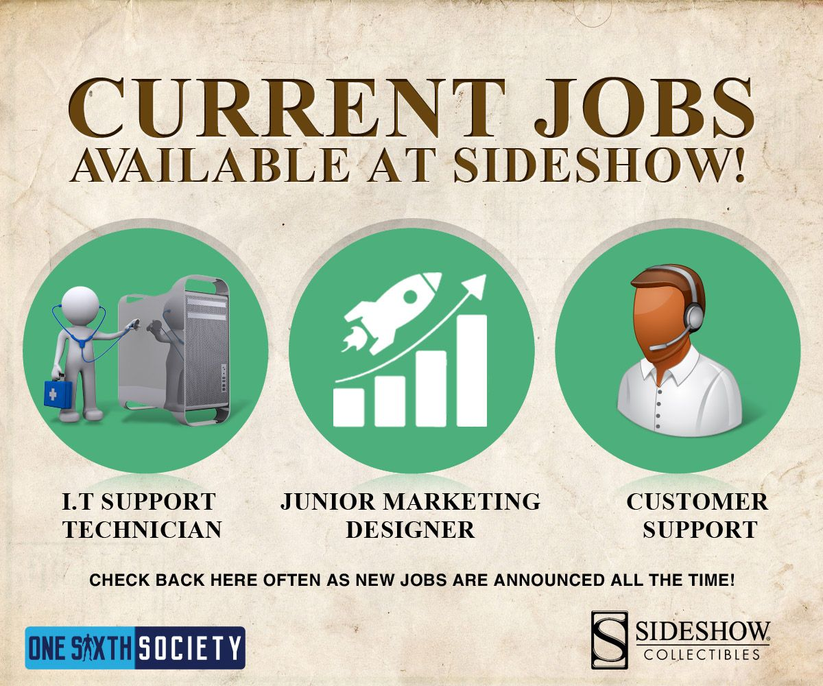 Have an Awesome Career Working With Action Figures at Sideshow Collectibles