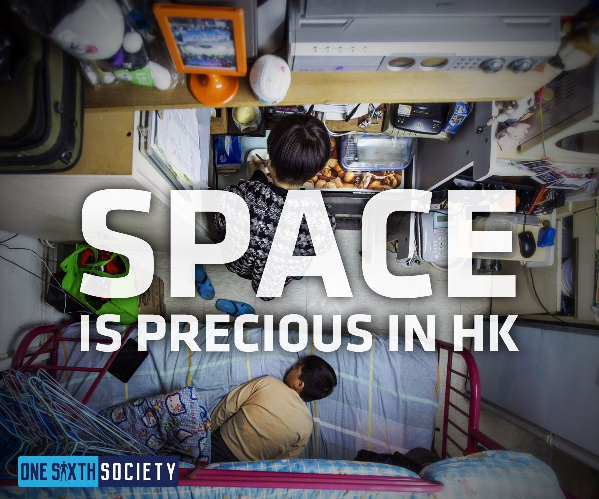 Space is a commodity in Hong Kong