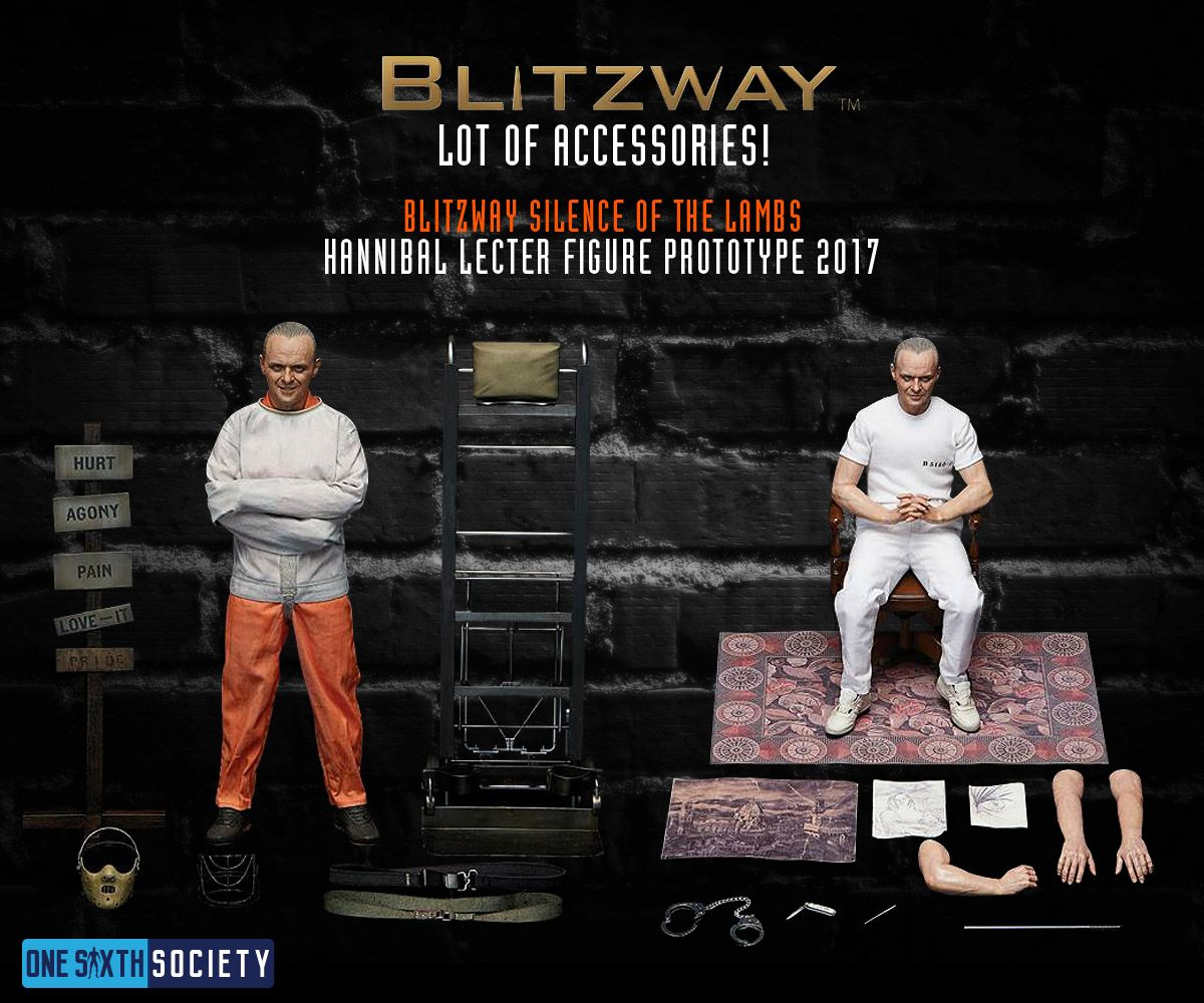 Here are all the Accessories you will receive with the Blitzway Hannibal Lecter figures