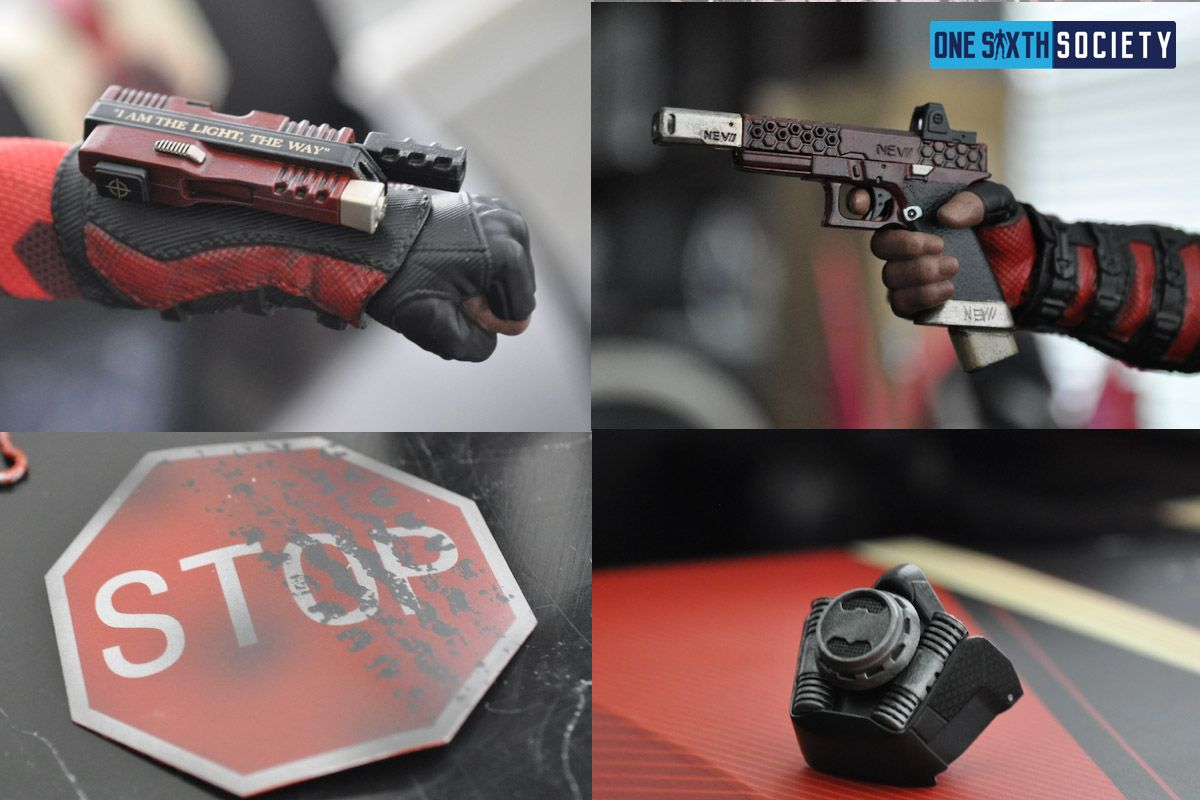 Here all all the Cool Accessories You Will Get With Your Hot Toys Deadshot Figure