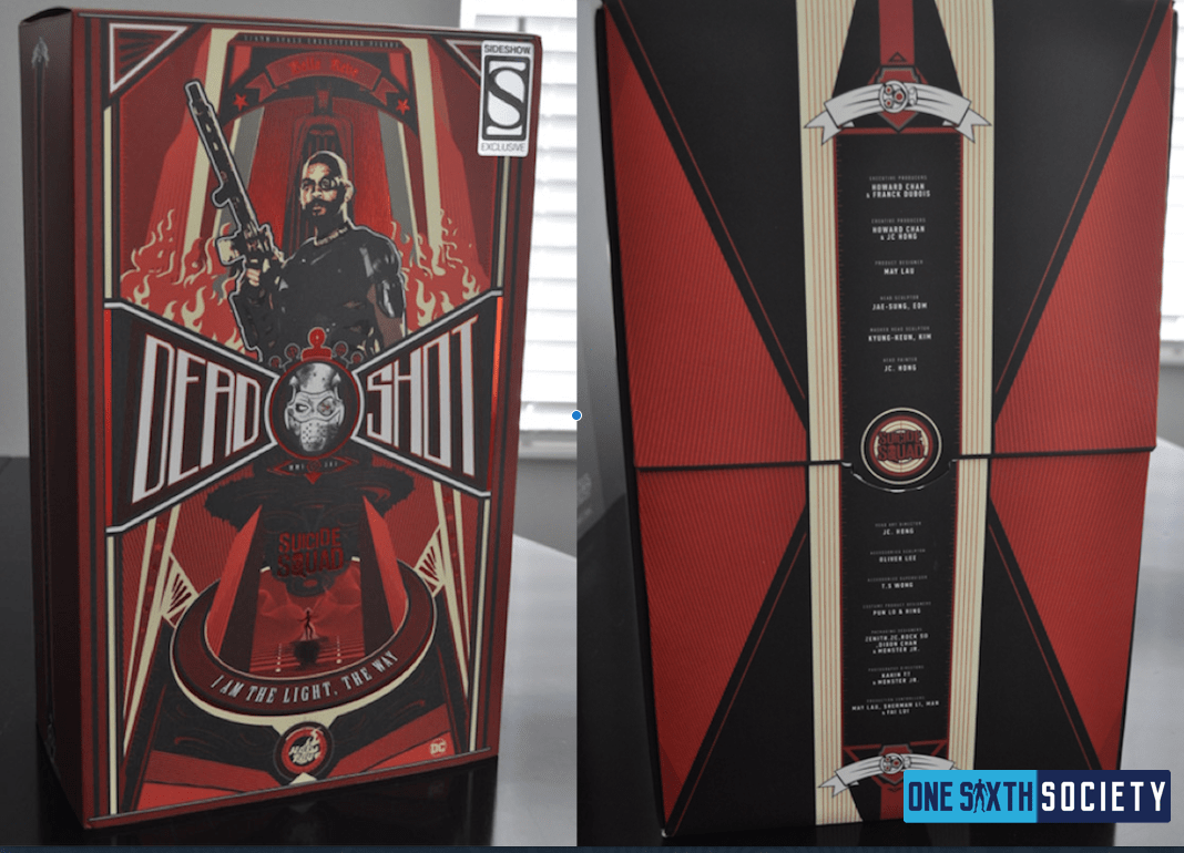 This is the Box The Hot Toys Deadshot Figure Comes In