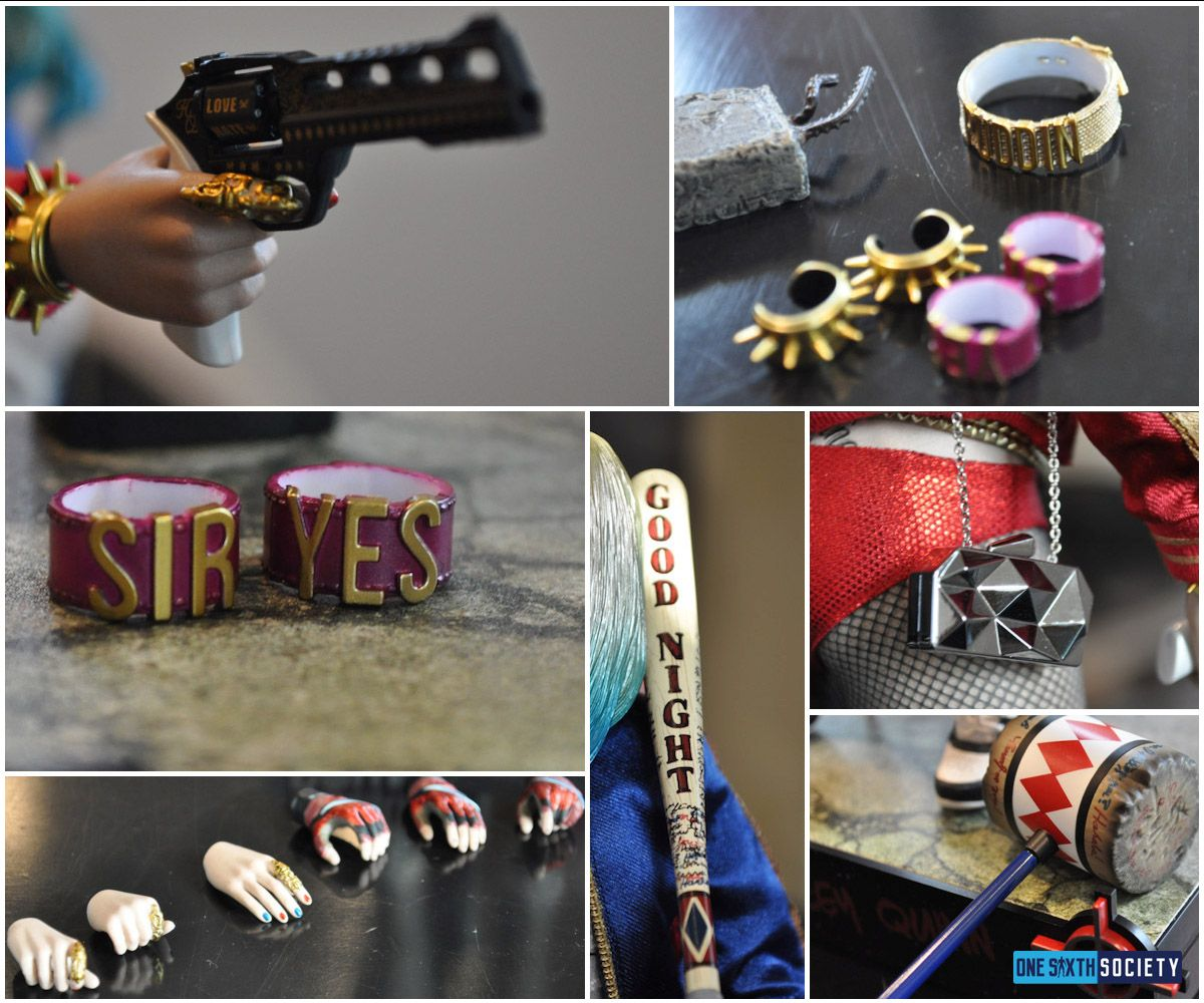 These are all of The Hot Toys Harley Quinn Accessories