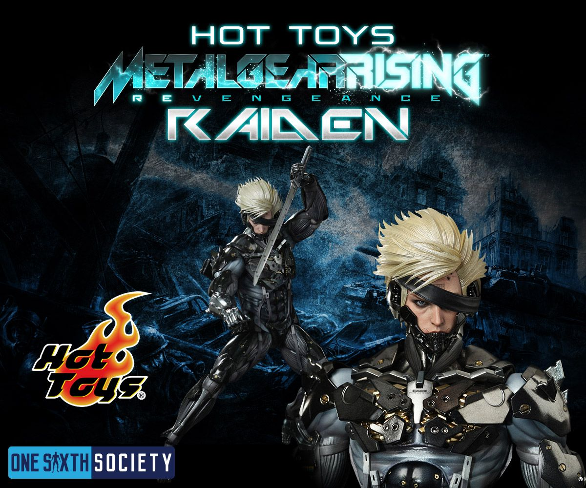 The Hot Toys Metal Gear Rising Revengence Raiden Video Game Action Figure is a Sixth Scale Figure