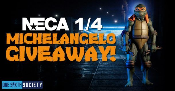 Heres Your Chance to Win a NECA 1/4 Michelangelo Figure!